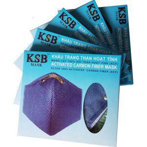Bộ 5 Khẩu trang than hoạt tính cao cấp KSB