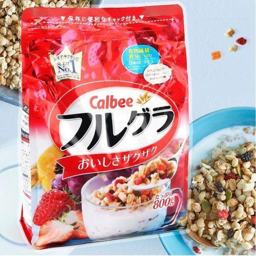 Ngũ Cốc Dinh Dưỡng Cho Bữa Sáng Calbee Nhật Bản - so sanh gia