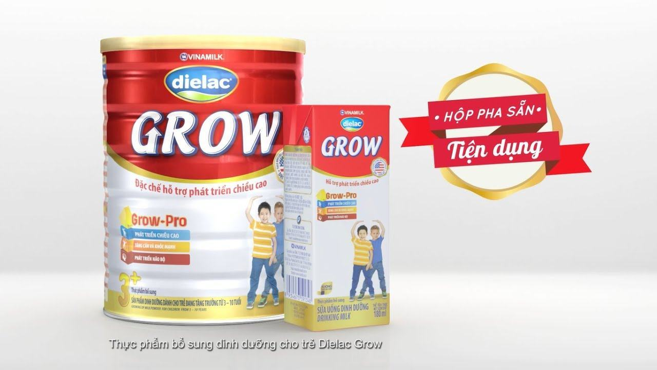 Sữa phát triển chiều cao và trí não Dielac Grow