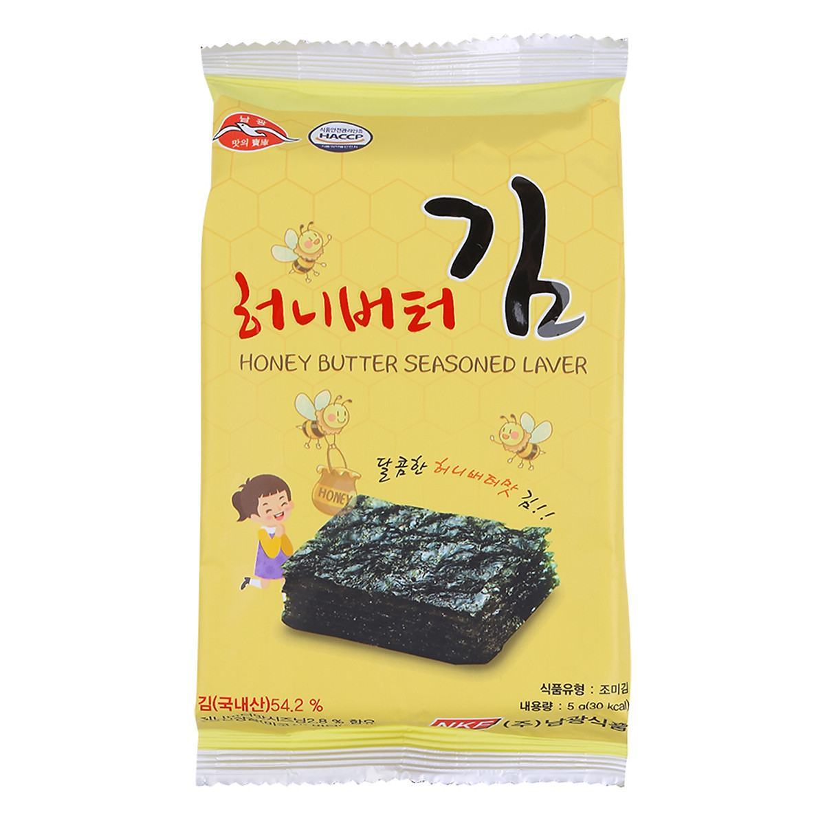 Rong biển khô tẩm bơ mật ong Namkwang Food
