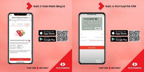 Hướng dẫn cách mở tài khoản ngân hàng Techcombank online 02