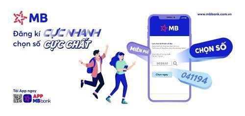 Mở tài khoản như ý trên app MB bank