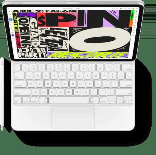 Apple Pencil và bàn phím Magic Keyboard