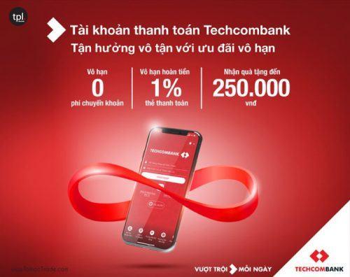 Ưu đãi khi mở tài khoản techcombank trực tuyến