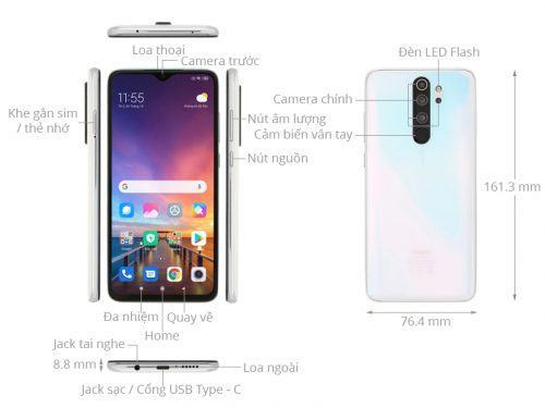 Thiết kế và vẻ ngoài của Redmi Note 8 Pro